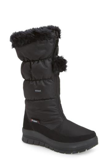 Pajar Toboggan 2 Faux Fur Trim Insulated Waterproof Boot, Black