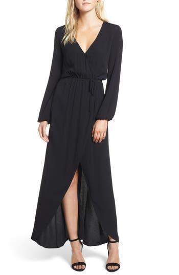Women's Splendid Crepe Wrap Dress, Size Small - Black
