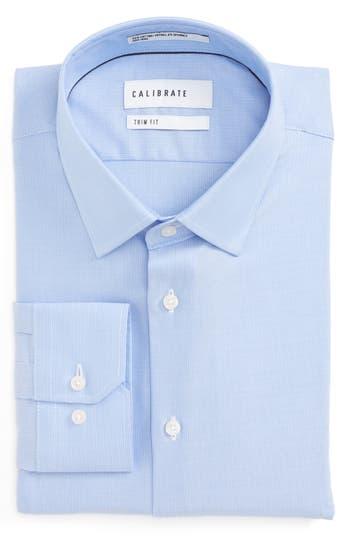 Men's Calibrate Trim Fit No-Iron Stretch Cotton Dress Shirt