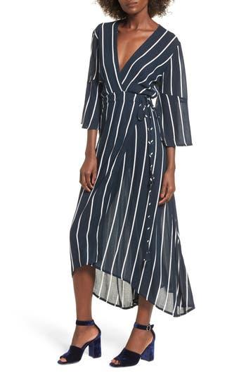 Women's Faithfull The Brand Amour Wrap Dress, Size X-Small - Blue