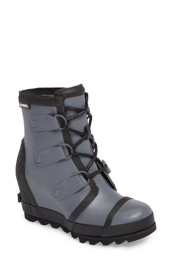 Sorel Joan Wedge Rain Boot- Grey