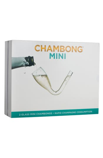 Chambong Set Of 2 Mini Curved Champagne Glasses, Size One Size - White