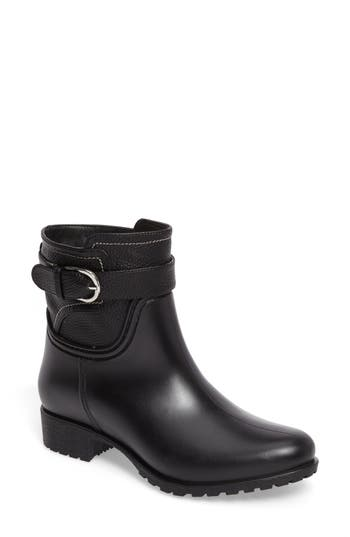 Dav Bowie Faux Water Resistant Mid Boot, Black