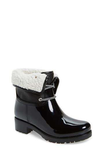 Dav Calgary Faux Shearling Water Resistant Boot, Black
