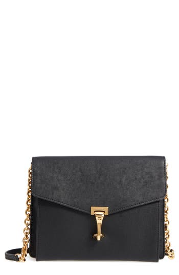 Burberry Macken Leather Crossbody Bag - Black
