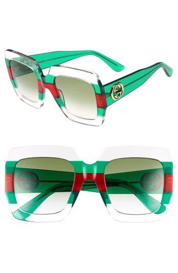 Gucci 5m Square Sunglasses - Multi/ Pink