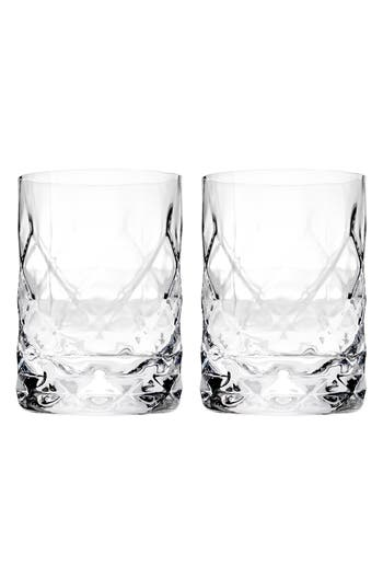 True Fabrications Set Of 2 Double Old Fashioned Glasses, Size One Size - White