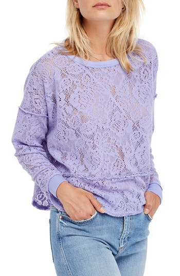 Free People Not Cold In This Top, Purple