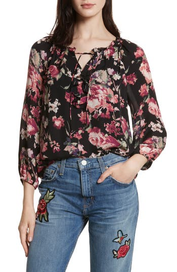 Women's Joie Nadege Floral Print Silk Top