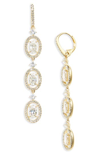 Women's Nadri Oval Halo Drop Earrings