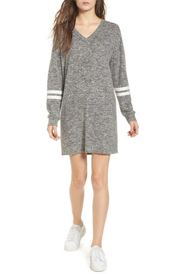 One Clothing Varsity Stripe Dress, Grey