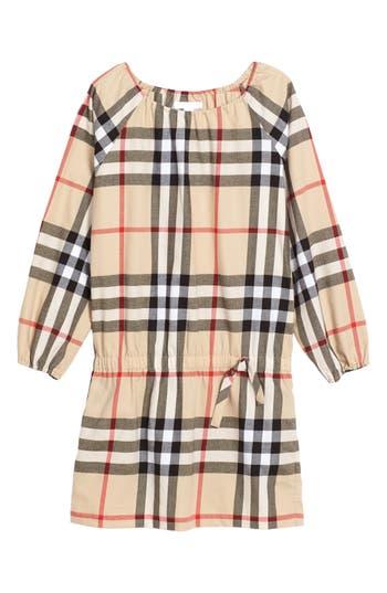Girl's Burberry Kadyann Check Dress