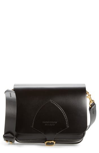 Burberry Leather Shoulder Bag - Black