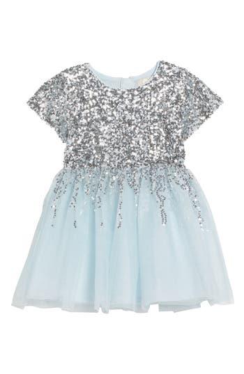 Girl's Peek Royal Sequin Tulle Dress