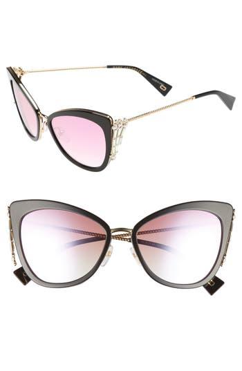 Women's Marc Jacobs Embellished 56Mm Cat Eye Sunglasses - Blue