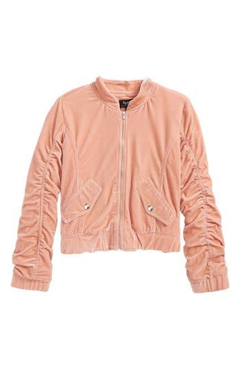 Girl's Bardot Junior Mackenzie Velvet Bomber Jacket