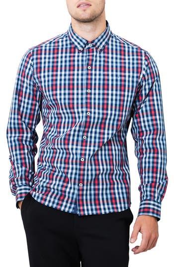 Men's 7 Diamonds Year One Woven Shirt, Size Small - Blue