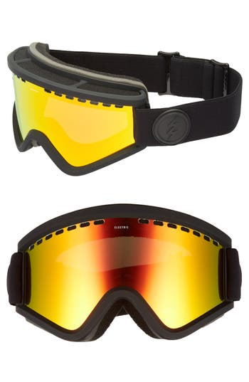 Women's Electric Egv Snow Goggles - Matte Black/ Red Chrome