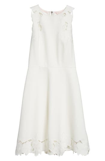 e18989b8c7 Ted Baker Emmona Embroidered Skater Dress In Ivory