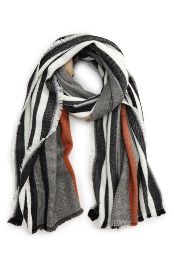 Women's Bp. Multi Color Stripe Oblong Scarf