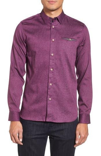 Men's Ted Baker London Norbor Modern Slim Fit Microdot Print Sport Shirt