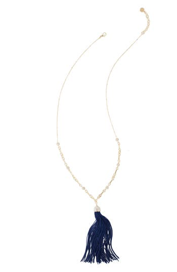 Women's Lilly Pulitzer Midnight Tassel Pendant Necklace