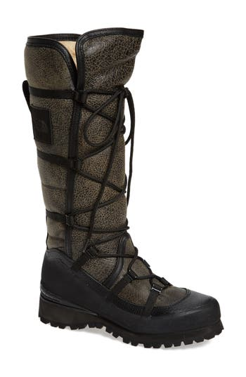 The North Face Cryos Knee High Genuine Shearling Boot, Black