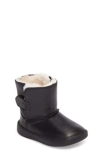 Toddler Boy's Ugg Keelan Genuine Shearling Leather Bootie