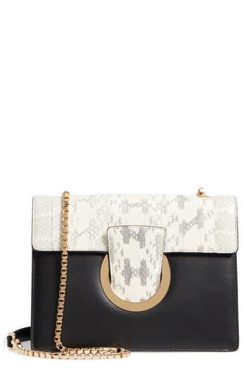 Salvatore Ferragamo Medium Leather & Genuine Snakeskin Shoulder Bag -