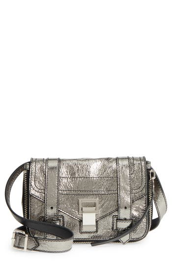 Proenza Schouler Mini Ps1 Metallic Leather Crossbody Bag - Metallic
