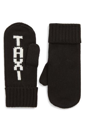 Kate Spade New York Taxi Mittens, Size One Size - Black