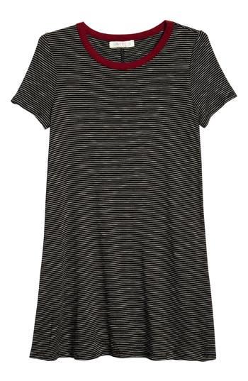 Girl's Love, Fire Stripe Ringer T-Shirt Dress