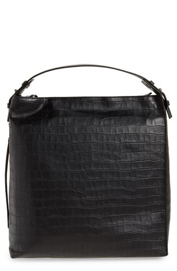 Allsaints Leathers ATLAS CONVERTIBLE LEATHER BACKPACK - BLACK