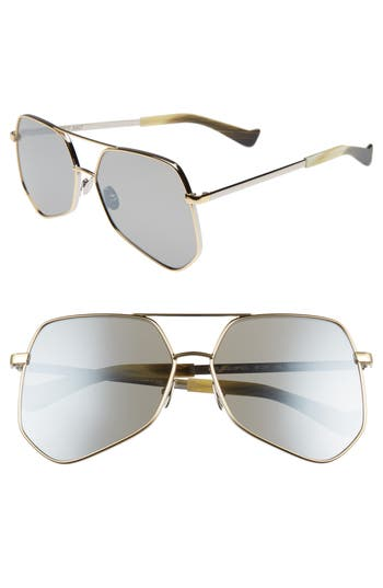 Grey Ant Megalast Flat 61Mm Sunglasses - Silver Gold/ Silver