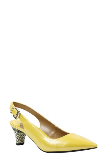 Women's J. Renee Mayetta Slingback Pump, Size 10 B - Yellow