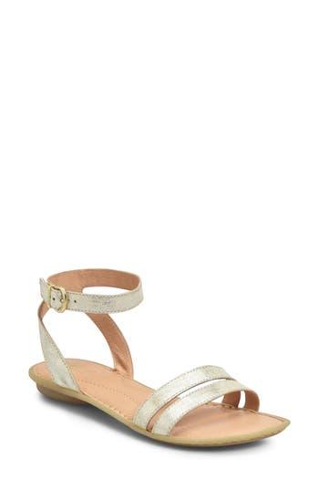 Women's B?rn Mai Easy Sandal, Size 10 M - Metallic