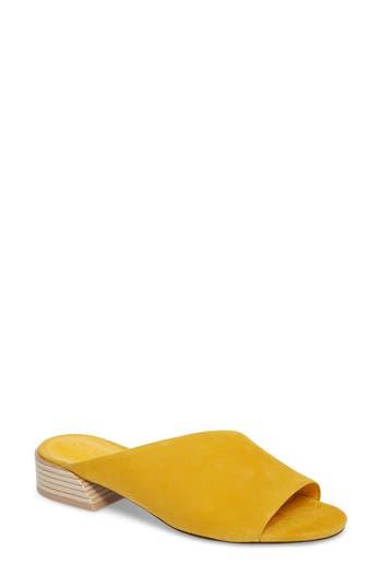 Mercedes Castillo Irene Asymmetrical Sandal Mule, Yellow