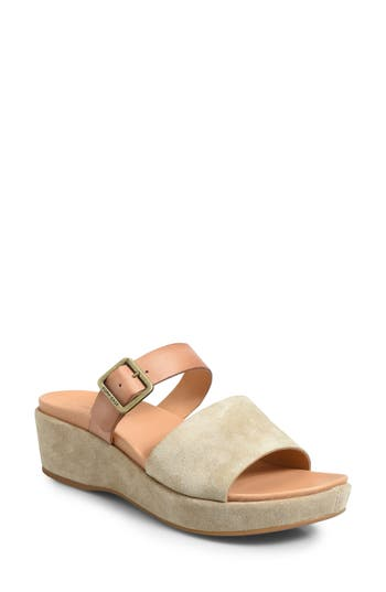 Kork-Ease Bisti Wedge Slide Sandal, Brown