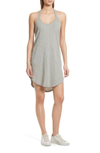 Atm Anthony Thomas Melillo Cotton Trapeze Tank Dress, Green