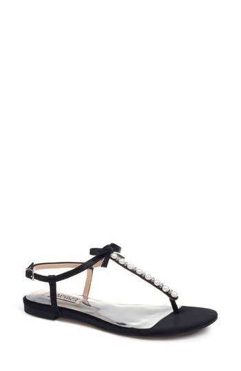 Badgley Mischka Honey Embellished Sandal- Black