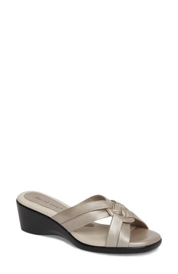 Women's David Tate Verona Sandal, Size 8.5 N - Metallic