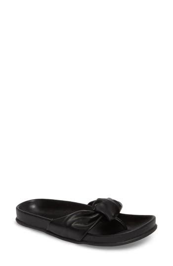 Very Volatile Glaze Bow Sandal, Black