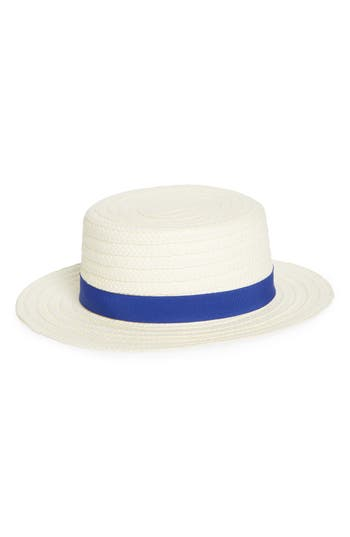 1940s Hats History Womens Treasure  Bond Straw Boater Hat - $17.40 AT vintagedancer.com