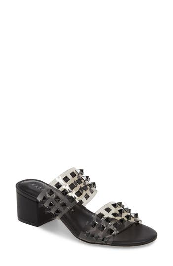 The Kenzie Studded Sandal, Black