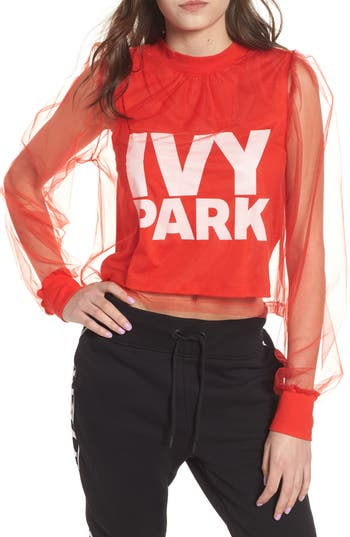 Ivy Park FESTIVAL TULLE CROP TOP