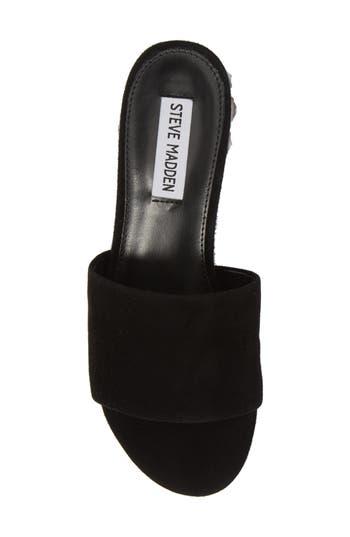 Women's Steve Madden Costa Slide Sandal, Size 9 M - Black