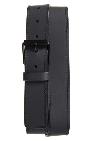 Calvin Klein Rubberized Leather Belt, Ultimate Black