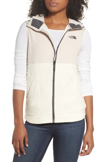 The North Face Mountain Sweatshirt Insulated Hooded Vest, Ivory