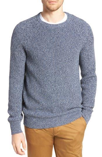 J.crew Marled Cotton Crewneck Sweater, Blue