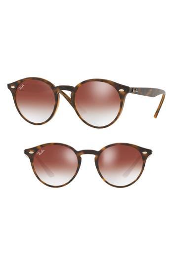 Ray-Ban Highstreet 4m Round Sunglasses - Red Gradient Mirror